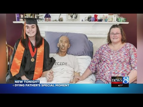 Dying father sees daughter graduate at in-home ceremony