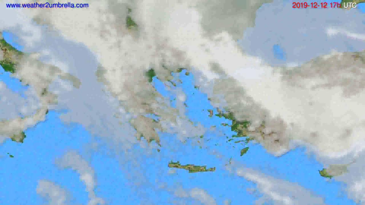 Cloud forecast Greece // modelrun: 12h UTC 2019-12-11