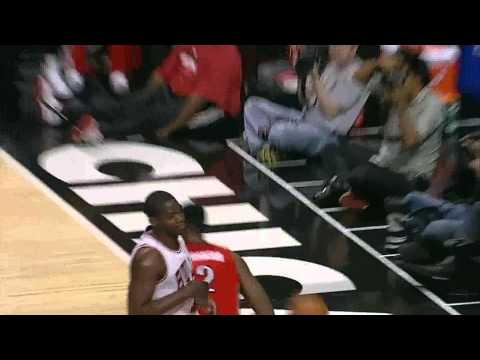 Amir Johnson blocks Carlos Boozer- Raptors @ Bulls