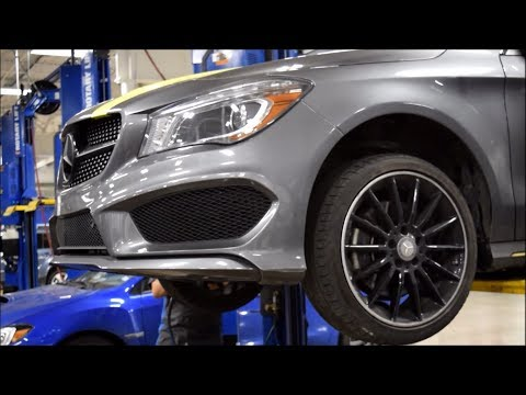 Mounting new tires and wheel spacers on the CLA!