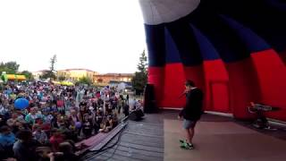 Петр Саранча (Helium) битбокс г. Белоярский День молодежи 24.06.2017