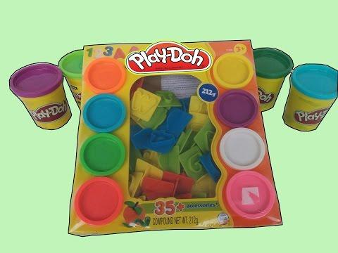 Numeros y Letras de Play Doh del 1 al 10 Más de 35 accesorios