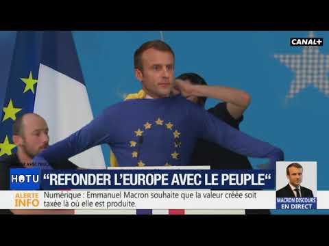 Emmanuel Macron se déguise pendant un discours ! - Canalbis - CANAL+