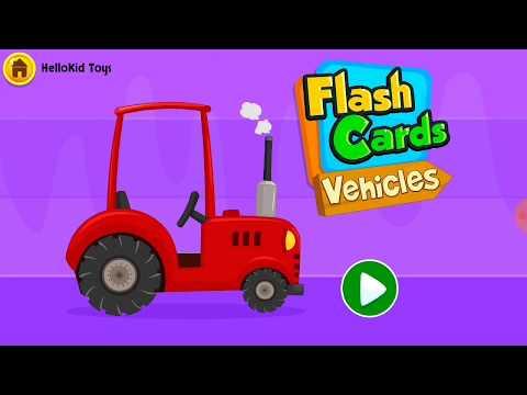 Talking Flashcard : Vehicles | Learning Stimulation for Kids Babies | English Vocabulary