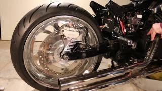 8. Honda VTX1300 fat tire (240) install overview
