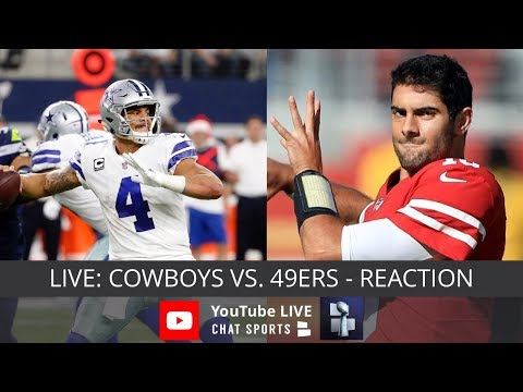 Cowboys at 49ers Live Streaming Reaction & Watch Party