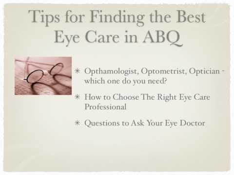 How to Find an Eye Doctor in Albuquerque, New Mexico