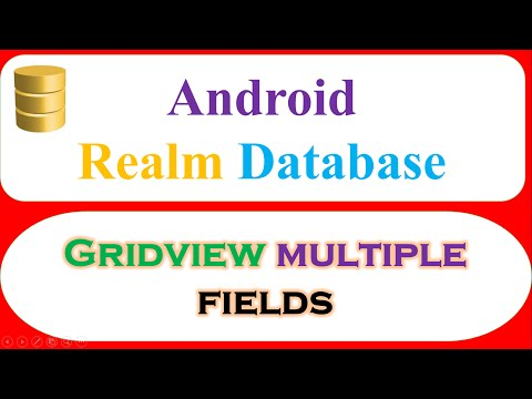 Android Realm : GridView Multiple Fields -Save,Retrieve