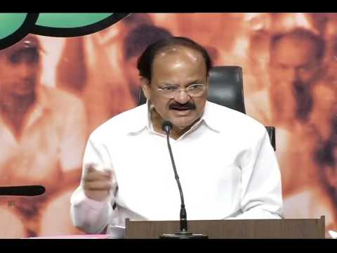 Joint Press Conference by Shri M.V. Naidu & Shri Arun Singh at BJP HQ