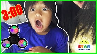 Do not spin a fidget spinner at 3am or 3pm! Ryan ToysReview tried the popular youtube 3am challenge except it's actually 3pm because Ryan can't stay up that late. Ryan's Family also tried the do not eat McDonald's Food at 3am challenge! The Giant Life Size Dinosaur visits Ryan's house and it's a family fun chase, hide and seek pretend playtime! THE FLOOR IS LAVA CHALLENGE! Ryan ToysReview Family Fun Kids Pretend Playtime https://youtu.be/nBVm9eOcowg?list=PLasCX3wfxLR35yWoGxSFBpSLgvi6ElOL1GIANT FIDGET SPINNER MAGICAL PAINTBRUSH! Chase and Hide N Seek Family Fun Kids Pretend Playtime https://youtu.be/Ividnecyjj8?list=PLasCX3wfxLR35yWoGxSFBpSLgvi6ElOL1Bad Kid Steals Giant Chocolate Bunny Candy and escape Jail IRL! Family Fun Kids Pretend Playtime https://youtu.be/eNM_fGDc_zY?list=PLasCX3wfxLR0zX6fndBSePp03--N5pZBwGIANT SPIDER ATTACKS sleeping mommy! Bad Kid prank mommy and daddy pretend play SKIT https://youtu.be/5AQRhEN2z7k?list=PLasCX3wfxLR0zX6fndBSePp03--N5pZBwMcDonald's Drive Thru Prank Bad Daddy! Babies Kids Ride On Car + McDonald's Indoor Playground https://youtu.be/yiFCSpGYWbc?list=PLasCX3wfxLR0zX6fndBSePp03--N5pZBwCLUMSY GRANDMA magic wand transform! Daddy trap inside a box spider attack pretend play funny skit https://youtu.be/I6FJ7bPhwnc?list=PLasCX3wfxLR35yWoGxSFBpSLgvi6ElOL1CLUMSY GRANDMA magic wand transform twin babies into Poop Emoji magical spell pretend play funny https://youtu.be/ho3O45t0fbc?list=PLasCX3wfxLR35yWoGxSFBpSLgvi6ElOL1Dr. Ryan farting Giant Bear shot in tummy Doctor Check up syringe injection pretend play https://youtu.be/ZhohW6u1QRg?list=PLasCX3wfxLR0Yy2JiYptRJruJE4wAh-THPet Shark Toy Videos , Pet Shark Attack and Pet Gator Attack!https://www.youtube.com/playlist?list=PLasCX3wfxLR0k62Qk6SYbdmUK9wRXFRZ1PET GATOR ATTACK! Playing Chase and Hiding at Playground for Kids Egg Surprise Toys Kids Prank https://youtu.be/DoulGkVCAbc?list=PLasCX3wfxLR0k62Qk6SYbdmUK9wRXFRZ1Feeding Pet Shark Play Doh snack and Poop Slime! POO Surprise Toys for kids! K