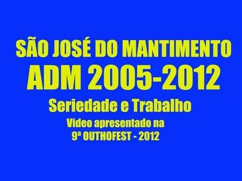 SÃO JOSÉ DO MANTIMENTO - ADM 2005/2012