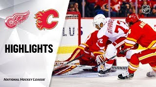 Red Wings @ Flames 10/17/19 Highlights by NHL