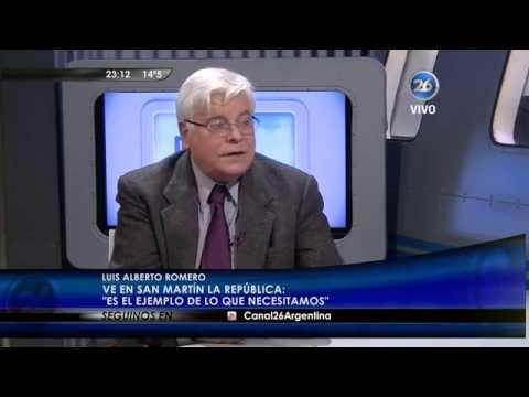 """Luis Alberto Romero en """"La mirada"""" de Roberto García – 18/08/15"""