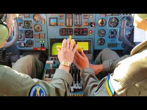 """Взлет Ан-225 """"Мрия"""" из кабины пилота"""