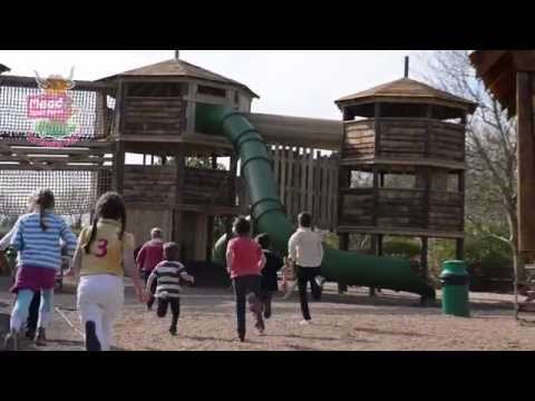 Outdoor adventure in Topsy Turvy Towers at Mead Open Farm