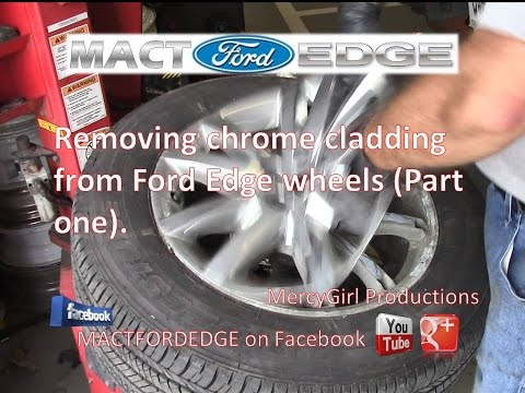 Ford Edge chrome cladding removal and cleaning (part one)