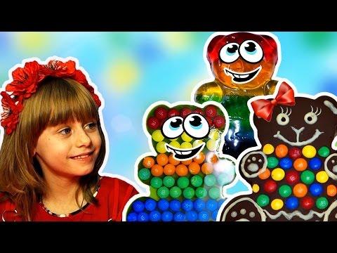 Сборник Шоколадный Медведь с М&М's и СКИТЛС Огромный Желейный Медведь Видео для Детей - DomaVideo.Ru