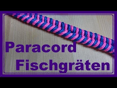 Paracord Armband mit Fischgräten knüpfen