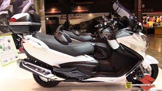 10. 2015 Suzuki Burgman 650 Executive - Walkaround - 2014 EICMA Milan Motorcycle Exhibition