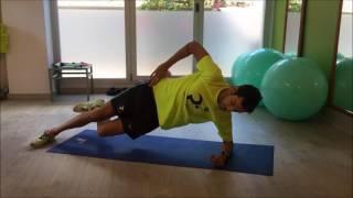 Plancha lateral sobre codo rodilla flexionada