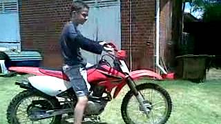 8. 2008 Honda CRF 100F lap around my backyard