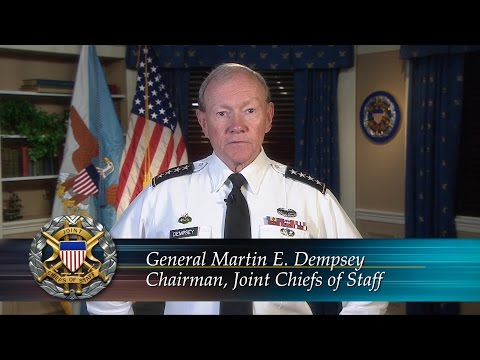 18th Chairman of the Joint Chiefs of Staff, U.S. Army General Martin E. Dempsey talks about the U.S. military mission in West Africa as well as precautions in place to ensure the safety of the service members addressing the Ebola crisis.