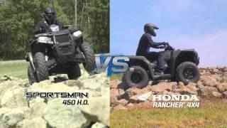 10. ATV-ul Polaris Sportsman 450 H.O. versus Honda Rancher