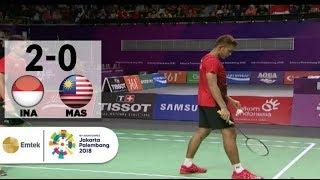Video INA v MAS - Badminton Ganda Putra: Fajar/Rian v Ong/Teo | Asian Games 2018 MP3, 3GP, MP4, WEBM, AVI, FLV Maret 2019