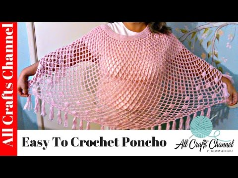 easy to crochet poncho poncho en crochet facil