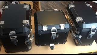 8. BMW 1200 GS Panniers wrapped in black...