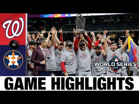 Nationals win 1st World Series with Game 7 comeback win!   Astros-Nationals MLB Highlights