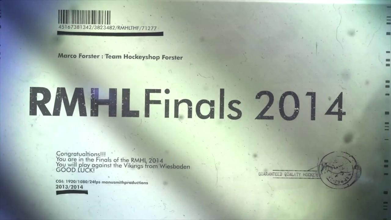 Team Hockeyshop Forster vs. Wiesbaden Vikings RMHL Finale 2014