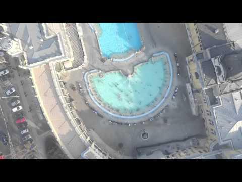 Légifelvétel a Széchenyi fürdőről