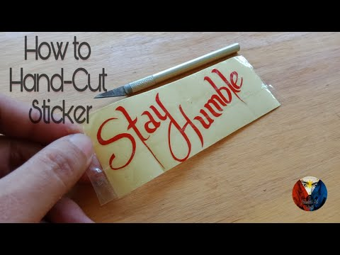 How to: Hand Cut Sticker