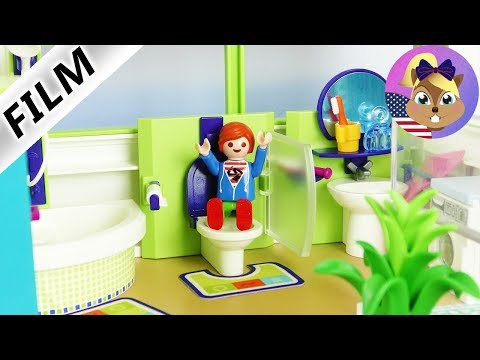 Playmobil Film English - NEW BATHROOM FOR THE SMITH FAMILY! MAKE OVER IN THE LUXURY VILLA