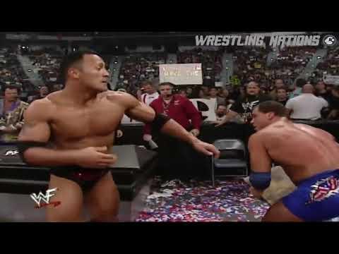 The Rock vs Triple H vs Kurt Angle WWE Championship