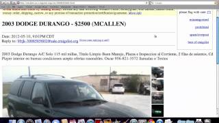 Craigslist McAllen Texas - Used Ford and Chevy Trucks Under $3000 Available in 2012