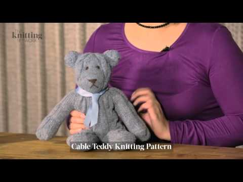 Cable Teddy Knitting Pattern (The Knitting Network WTD022)