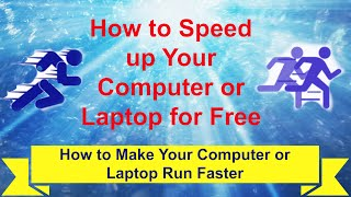 How to Speed up Your Computer or Laptop for Free  How to Make Your Computer or Laptop Run Faster is a how to video that will show you simple steps that you can do to speed up your computer or laptop and help it perform better for free and without spending any money.https://youtu.be/K1fO9834-K4https://www.youtube.com/channel/UCFBxyLMer62Dr4cmdMeQP4A