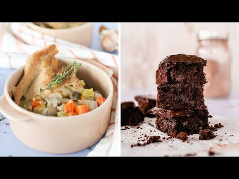 Nutrition - Healthy Comfort Food Recipes  Chocolate Brownies and Chicken Pot Pie
