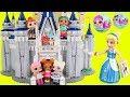 LOL Surprise Dolls Lil Sisters visit Lego Disney Castle
