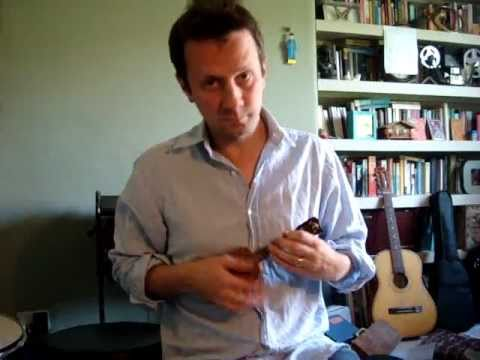 Will Grove-White on world's smallest(?) playable ukulele