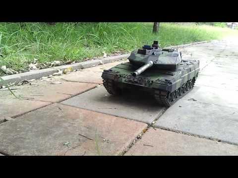 Танк р/у 1:16 Heng Long Leopard II A6 в металле с пневмопушкой и дымом (HL3889-1PRO)