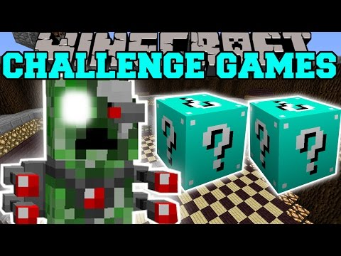Minecraft: ROBOT ALIEN CREEPER CHALLENGE GAMES – Lucky Block Mod – Modded Mini-Game