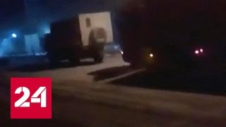 Дальнобойщики пережидают холода на ДПС под Ноябрьском