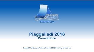 Fondazione Artemio Franchi - Piaggeliadi 21° Edizione