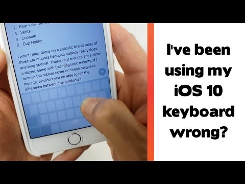 , title : 'Apparently I've been using the keyboard all wrong? iOS 10 Tips and Tricks'