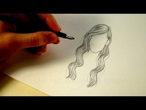 Zeichnen lernen: Haare – Frisur zeichnen – # 2