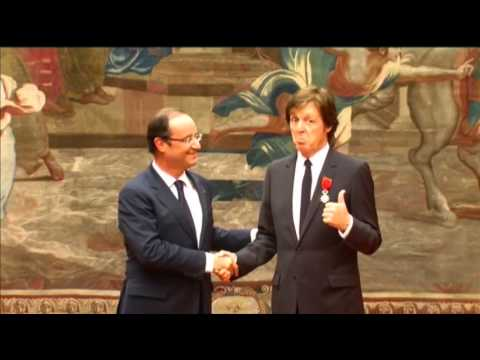 Raw Video: Paul McCartney honored in France