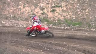 9. Motocross European Champion Emil Weckman training on Honda CRF150R raw footage